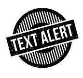 Text Alert rubber stamp Stock Image
