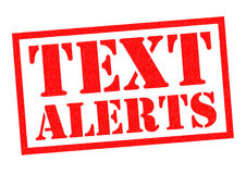 TEXT ALERTS Royalty Free Stock Photo