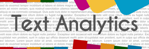 Text Analytics Colorful Abstract Shapes Royalty Free Stock Photography