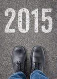 Text auf dem Boden 2015 Lizenzfreies Stockbild