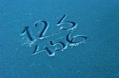 Text 123 auf einem Frost Lizenzfreie Stockbilder