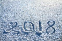 Text auf Schnee 2018 Lizenzfreie Stockfotografie