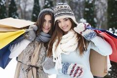 Text auf Winter Background Lizenzfreie Stockfotografie
