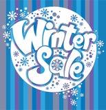 Text auf Winter Background Lizenzfreies Stockfoto