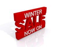 Text auf Winter Background Stockbilder