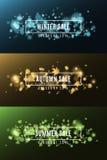 Text auf Winter Background Herbst VERKAUF Klarer Hintergrund mit Sun, Markierungsfahnen, Basisrecheneinheiten auf blauem Himmel H Lizenzfreie Stockfotos