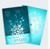 Text auf Winter Background Weihnachtsdesign-Vektorschablone Lizenzfreie Stockbilder