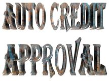 Text auto credit approval on white background. 3d rendering. Text auto credit approval on white background stock illustration