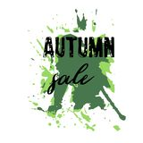 Text Autumn Sale, discount banners.Grunge elements, ink drops, a. Bstract background. Vector illustration Vector Illustration