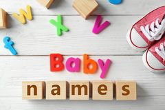 Text BABY NAMES Royalty Free Stock Image