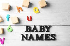 Text BABY NAMES Royalty Free Stock Photo