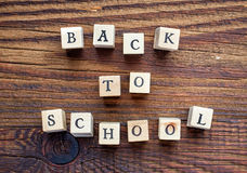 Text back to school Royalty Free Stock Photos