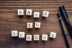 Text back to school Royalty Free Stock Photography