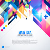 Text background with abstract geometric element and glowing lights. Stock Photography