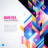 Text background with abstract geometric element and glowing lights. Stock Images