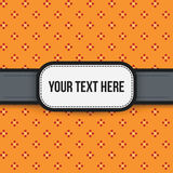Text background with colorful pixelated pattern Stock Photography