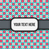 Text background with colorful pixelated pattern Royalty Free Stock Images
