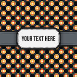 Text background with colorful pixelated pattern. Useful for presentations, advertising and web design Stock Illustration