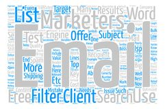Text Background Word Cloud Concept. Costly Email Mistakes Word Cloud Concept Text Background Stock Photos