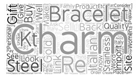 Text Background Word Cloud Concept. Create a Perfect Gift With Italian Charms Word Cloud Concept Text Background royalty free illustration