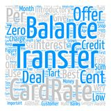 Text Background Word Cloud Concept. Credit Card Balance Transfers Introductory Offers text background word cloud concept Royalty Free Stock Image