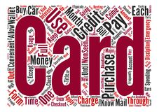 Text Background Word Cloud Concept. Credit Card Usage Explained Word Cloud Concept Text Background Stock Photo