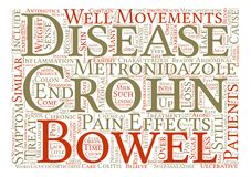 Text Background Word Cloud Concept. Crohn s Disease Explained Word Cloud Concept Text Background Stock Photos
