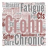 Text Background Word Cloud Concept. Crohns Disease Chronic Fatigue Syndrome Is There A Cure text background word cloud concept vector illustration