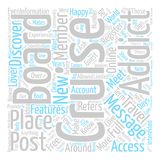 Text Background Word Cloud Concept. Cruise Message Boards Explained text background word cloud concept Stock Images