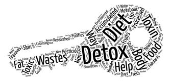 Text Background Word Cloud Concept. Detox Diets The New Diet Fad Word Cloud Concept Text Background Stock Image