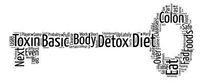Text Background Word Cloud Concept. Detox Diets The Next Diet Fad Word Cloud Concept Text Background Royalty Free Stock Photos