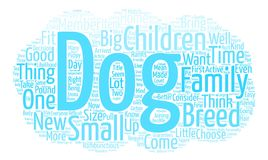 Text Background Word Cloud Concept. Good Dogs for Children Word Cloud Concept Text Background Stock Image