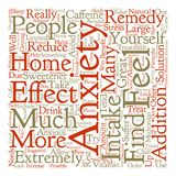 Text Background Word Cloud Concept. Home Remedies for Anxiety text background word cloud concept Stock Photos