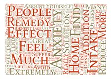 Text Background Word Cloud Concept. Home Remedies for Anxiety Word Cloud Concept Text Background Stock Photos