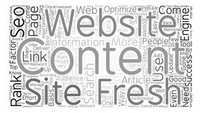 Text Background Word Cloud Concept. Reasons Why Fresh Content Is Imperative To Successful SEO Word Cloud Concept Text Background Stock Images