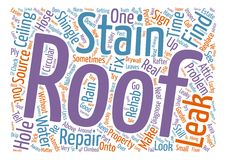 Text Background Word Cloud Concept. The Truth About Roofs text background wordcloud concept Stock Images