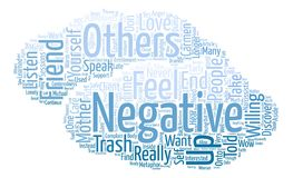 Text Background Word Cloud Concept. Are You a Trash Can for Others Negativity Word Cloud Concept Text Background Royalty Free Stock Photo