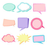Text Balloon Color pastels maker to cerate and share  favorite Royalty Free Stock Image