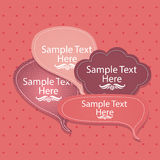 Text balloon Royalty Free Stock Photo