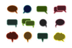 Text balloon Vector speech bubble icons Royalty Free Stock Photos