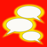 Text balloons. Blank text balloons in retro colors Stock Image