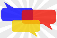 Text balloons. Colorful text balloons with copy space provided inside Stock Photography