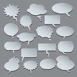 Text balloons. Collection of  speech bubbles Royalty Free Stock Images