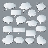 Text balloons. Collection of  speech bubbles Stock Photos