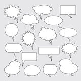 Text balloons. Collection of  speech bubbles Royalty Free Stock Image