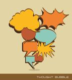 Text balloons comic Stock Image