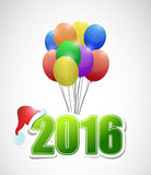 2015 text and balloons illustration Stock Image