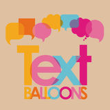 Text balloons Stock Photography