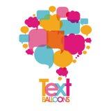 Text balloons Stock Photo