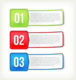 Text and banner paper Stock Image